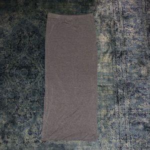 Leith Xs cotton grey midi skirt